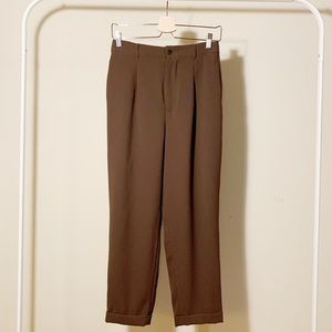 Zara Khaki Green Flowing Pants